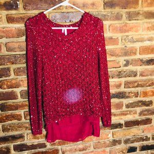 ♦️Maurices Sparkle Layered Blouse Size Small